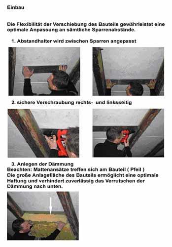 Montageanleitung und Verwendung der Abstandhalter